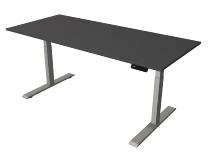 Kerkmann 2769 Steh-/Sitztisch Move 2 Gestell Silber (BxTxH) 180x60x63-127cm Anthrazit