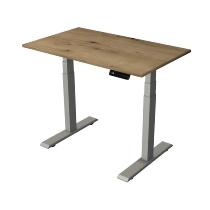 Kerkmann 2774 Kompakt Steh-/Sitztisch Move 2 Gestell Silber (BxTxH) 100x60x63-127cm Eiche