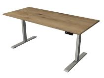 Kerkmann 2777 Steh-/Sitztisch Move Gestell 2 Silber (BxTxH) 180x80x63-127cm Eiche