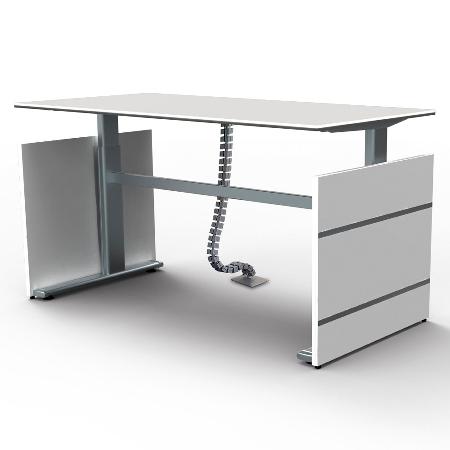 Kerkmann 3000 Kabelspirale Silber für Sitz-/Stehtische Länge 125cm beliebig kürzbar