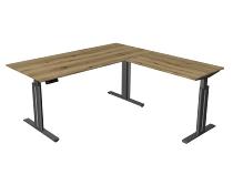 Kerkmann 3248 Steh-/Sitztisch Move 3 elegant Anbau.höhenverstellbar (BxTxH) 180x180x72-120cm Eiche