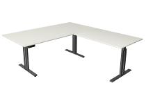 Kerkmann 3251 Steh-/Sitztisch Move 3 elegant Anbau.höhenverstellbar (BxTxH) 200x220x72-120cm Weiß