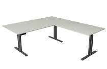 Kerkmann 3252 Steh-/Sitztisch Move 3 elegant Anbau.höhenverstellbar (BxTxH) 200x220x72-120cm Lichtgrau