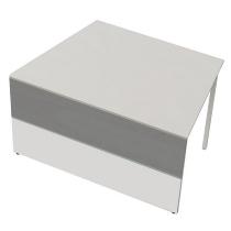 Kerkmann 3272 Tisch-Anbauelement Atlantis 3 einseitig schräg (BxTxH) 1350x820x750mm Weiß/Grafit