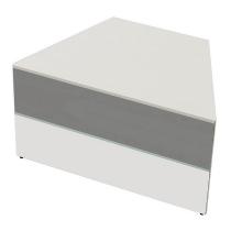 Kerkmann 3273 Tisch-Anbauelement Atlantis 3 beidseitig schräg (BxTxH) 1350x820x750mm Weiß/Grafit
