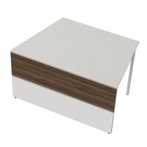 Kerkmann 3295 Tisch-Anbauelement Atlantis 3 einseitig schräg (BxTxH) 1350x820x750mm Weiß/Nussbaum
