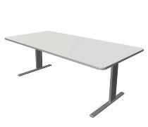 Kerkmann 3341 Schreibtisch UNIC C-Fuß (BxTxH) 2000x1000x750mm Weiß