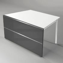 Kerkmann 3495 Tisch-Anbauelement Atlantis 2 einseitig schräg (BxTxH) 1350x825x750mm Anthrazit/Weiß