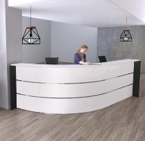 Kerkmann 3565 Bogentheke BARI für 1-2 Personen 334x182.5x112cm Weiß/Anthrazit