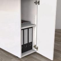 Kerkmann 3571 Stauraumelement mit Tür abschließbar Weiß