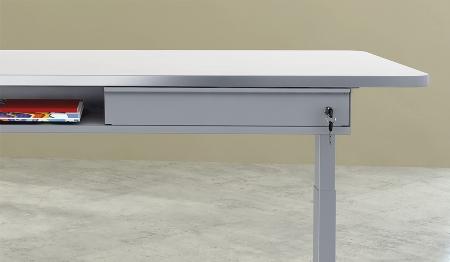 Kerkmann Untertisch-Schublade 3797 abschließbar mit Utensilienfach (BxTxH) 600x315x80mm Silber