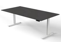 Kerkmann MOVE 3 Steh-/Sitz Schreibtisch 3817 T-Fuß (BxT) 200x100cm elektr. höhenverstellbar Anthrazit