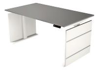 Kerkmann 3834 Sitz-/Stehtisch Form 4 160cm elektr. höhenverstellbar Grafit