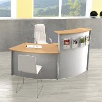 Kerkmann Kompakttheke Genua 45° (1x3990 1x3993) BxTxH 2445x800x1150mm Silber/Buche