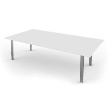 Kerkmann Besprechungstisch Form 5 4-Fuß höhenverstellbar (BxTxH) 200x100x68-82cm Weiß