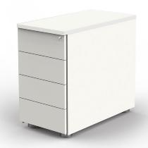 Kerkmann 4190 Anstellcontainer (BxTxH) 43x80x72-76cm 4 Schubladen Weiß