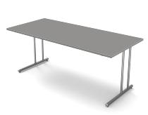 Kerkmann 4346 Schreibtisch start up C-Fuß (BxT) 180x80cm Grafit