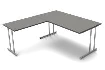 Kerkmann 4370 Winkel Schreibtisch start up C-Fuß (BxT) 160x80cm Grafit