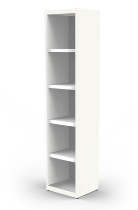 Kerkmann 4382 Regal 5OH schmal (Schrankkorpus) extrem stabil mit Stahlfachböden Weiß