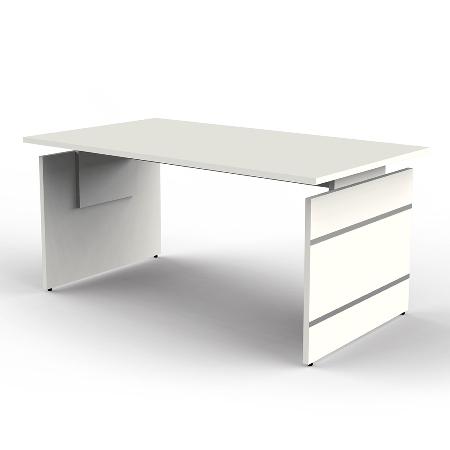 Kerkmann 4403.1 Schreibtisch Form 4 Wangengestell (BxTxH) 160 x 80cm höhenverstellbar 68-76cm Grafit