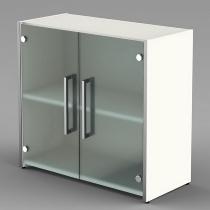 Kerkmann Form 4 Glastürenschrank 1 Fachboden 2OH (BxTxH) 800x380x760mm