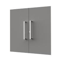 Kerkmann 4450 Vorbautüren-Set 2OH (BxH) 760 x 700 mm abschließbar Grafit