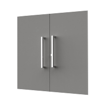 Kerkmann 4450 Vorbautüren 2OH (BxH) 760 x 700 mm Holz abschließbar Türen Grafit