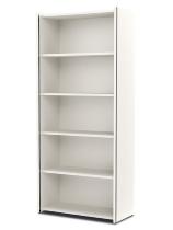 Kerkmann 4532 Regal 3OH breit (Schrankkorpus) mit Edelstahl-Zierleisten Holzfachböden Weiß