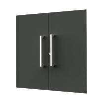 Kerkmann 4450 Vorbautüren-Set 2OH (BxH) 760 x 700 mm abschließbar Anthrazit