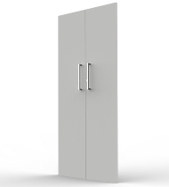 Vorbautüren-Set 5OH aus E1 Gütespan Lichtgrau