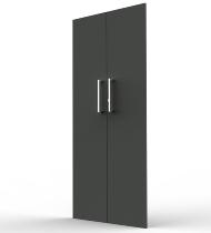 Kerkmann 4555 Vorbautüren-Set 5OH (BxH) 760 x 1760 mm abschließbar Anthrazit