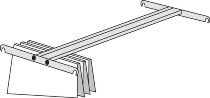 Kerkmann 5425 Pendelhefterschiene für Regaltiefe 40cm (TxB) 40 x 75 cm