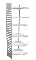Kerkmann 5866 Design-Regal M2 Eckfeld 6 Eckböden (TxH) 40 X 260cm