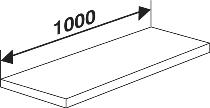 Kerkmann 5944 Fachboden inkl. Bodenhalter (TxB) 40 X 100 cm