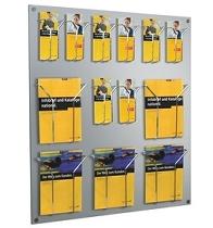 Kerkmann 6201 Wand-Prospekthalter FOCUS - der Alleskönner 9 X DIN A4 + 18 X DIN LANG