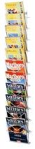 Kerkmann 6502 Zeitschriften-Wandhalter 11 Fächer innen 250mm breit