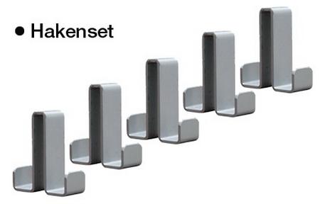 Kerkmann 6557 Kleiderhaken Alausilber Packung 5 Stück