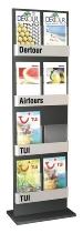 Kerkmann 6597 Prospektständer FIRST mit 8 Fächern für DIN A4 Anthrazit/Silber