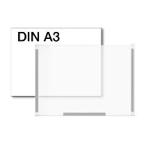 Kerkmann 6943 Plakattasche für DIN A3 Kristallglas-Optik magnethaftend