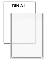 Kerkmann 6947 Plakattasche für DIN A1 Kristallglas-Optik magnethaftend