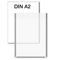 Kerkmann 6948 Plakattasche für DIN A2 Kristallglas-Optik magnethaftend