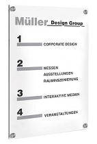 Kerkmann 6952 SiGN Wandschild A3 (BxH) 297x420mm Acrylglas
