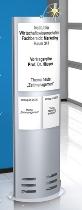 Kerkmann 6957 Infosäule TECArt breit (BxTxH) 600x320x1650mm (ohne Bestückung)