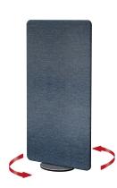 Kerkmann 6973 Sicht-und Schallschutzwand Textil METROPOL drehbar Blau