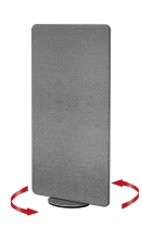 Kerkmann 6975 Sicht-und Schallschutzwand Textil METROPOL drehbar Grau