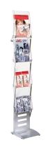 Kerkmann 6991 faltbarer Prospektständer tec-art Folder 4 Fächer DIN A4