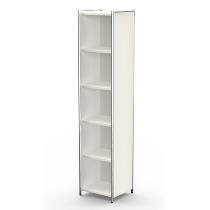 Kerkmann 7346 Einzelregal Artline 5OH (BxTxH) 410 x 380 x 1850 mm Weiß
