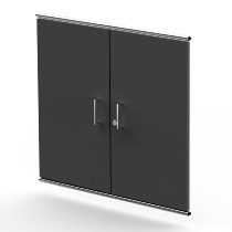Kerkmann 7394 Vorbautüren Artline 2OH (BxTxH) 750 x 16 x 680mm abschließbar Holz Anthrazit