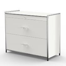 Kerkmann 7591 Hängeregistraturschrank Artline (BxTxH) 1000 x 470 x 800 mm 2 Schubladen Weiß