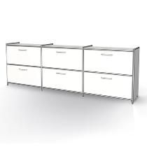 Kerkmann 7918 Sideboard Artline 2OH (BxTxH) 236x38x78cm 3x 2 Schubladen Weiß